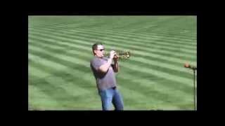 Kurt Thompson exciting trumpet National Anthem