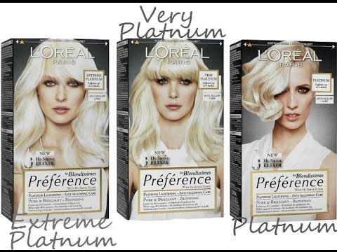 l oreal preference extreme platinum hair dye youtube