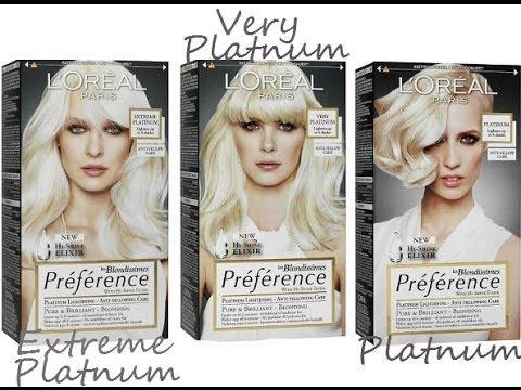 LOreal Preference Extreme Platinum Hair Dye YouTube