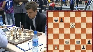 Карлсен не смог выиграть. Разгром в Каро-Канне в 23 хода.  3 тур Шахматной Олимиады
