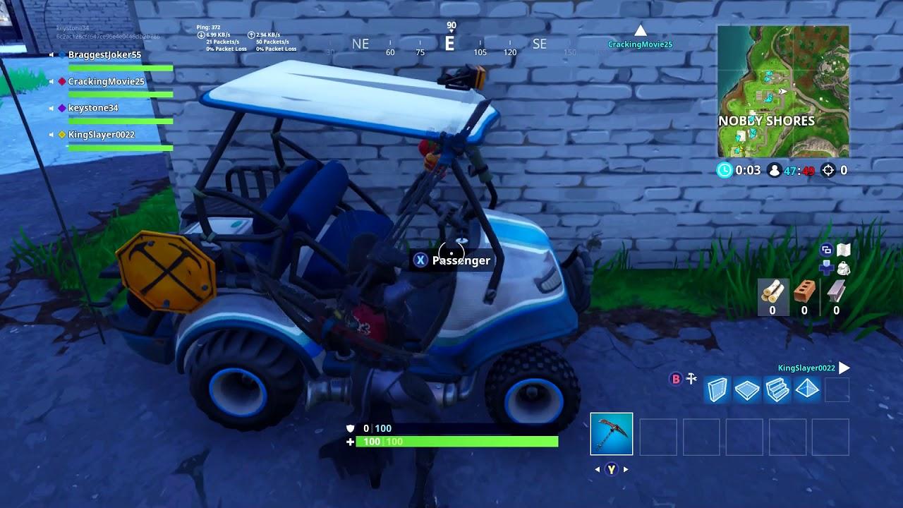snobby shores golf cart location - voiturette de golf fortnite