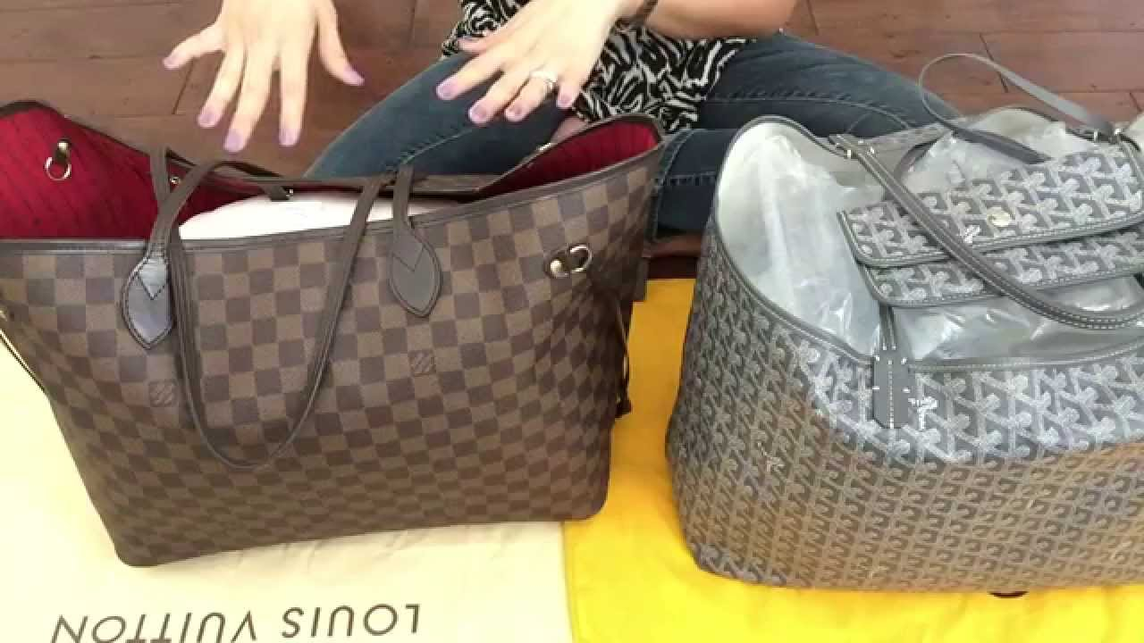 How I My Louis Vuitton Neverfull Goyard St Ginalvoe You