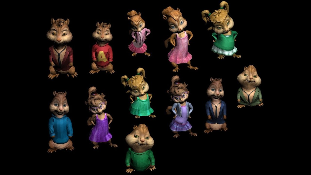 2500 Subscribers special! Chipmunks & Chipettes 3D models! [FREE DOWNLOAD]