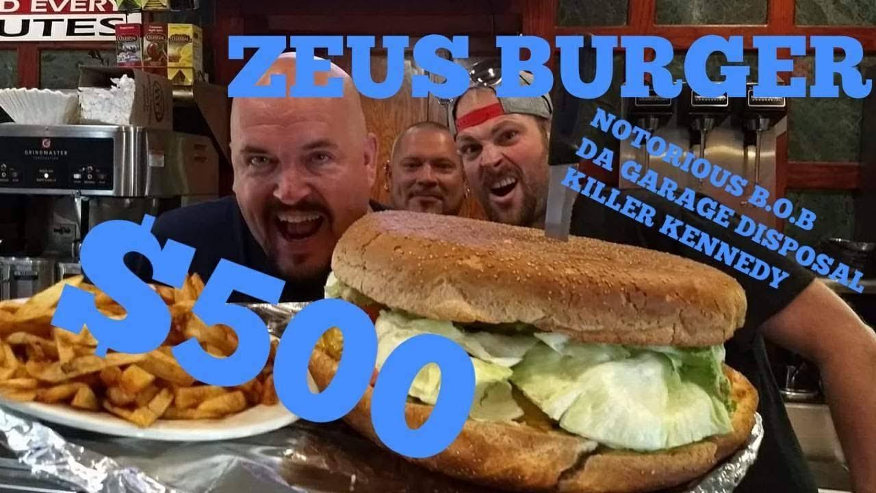 massive 22 5 lb team zeus burger challenge clinton station bob