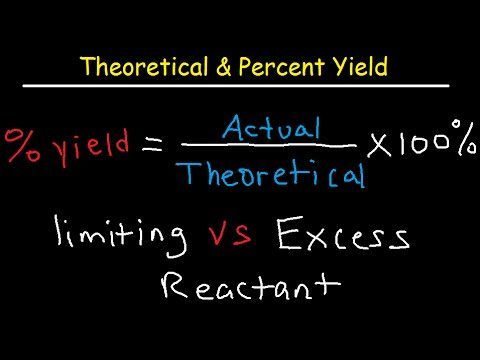 Theoretical, Actual, Percent Yield & Error - Limiting Reagent and Excess Reactant That Remains