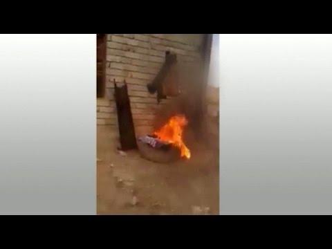 الحشد الشعبي يحرق عراقيا سنيا