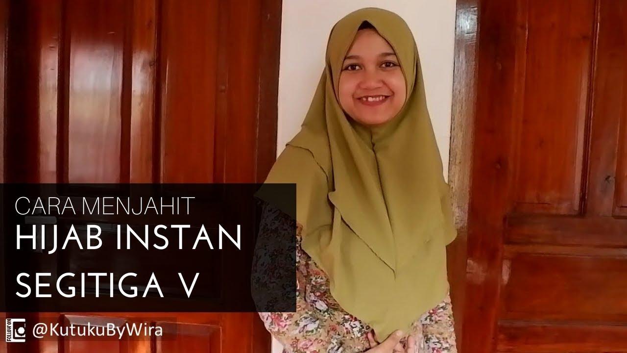 Cara Menjahit Jilbab Instan Segitiga V Youtube