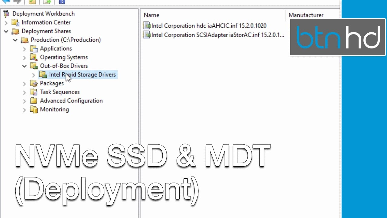 NVMe SSD and MDT 2013 (Personal Experience) by BTNHD
