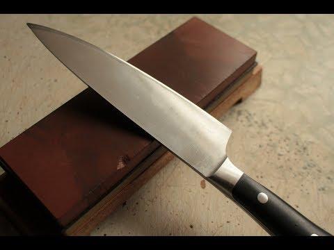 Заточка ножей водным камнем