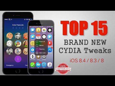 TOP 15 BRAND NEW Cydia Tweaks For iOS 8.4/8.3/8 – Pangu/TaiG Jailbreak