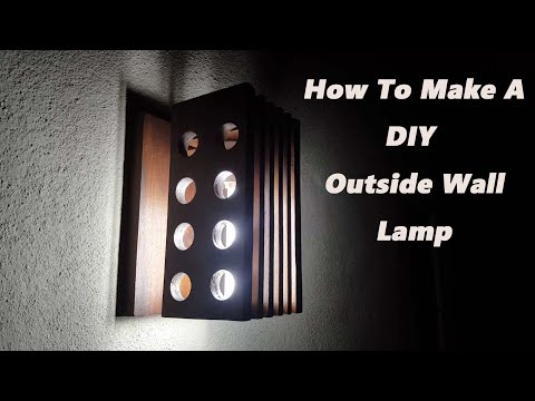 How To Make A Wooden Outdoor Wall Lamp/Wall Decoration Ideas/ Wall Hanging Craft Ideas/diy Ideas/