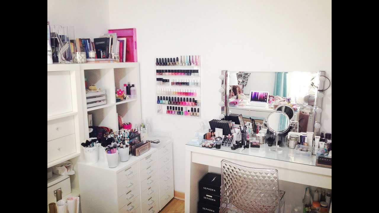 mon rangement et ma collection de maquillage makeup. Black Bedroom Furniture Sets. Home Design Ideas