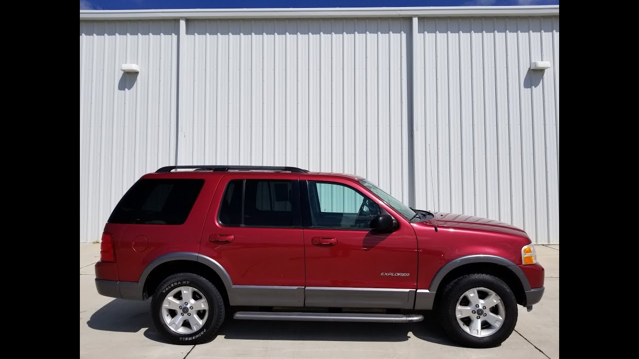 2004 ford explorer xlt 4wd red 2302120 v8