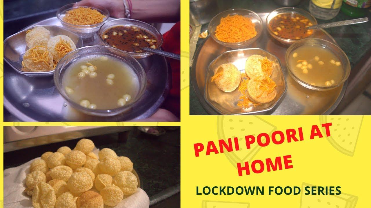 Home made pani poori recipe   Golgappe recipe   puchka recipe   Indian food    lockdown food series