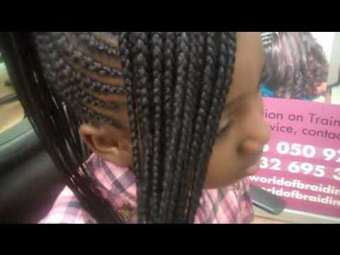 Pineapple Cornrow With Side Bang Fringe Part 2 Youtube