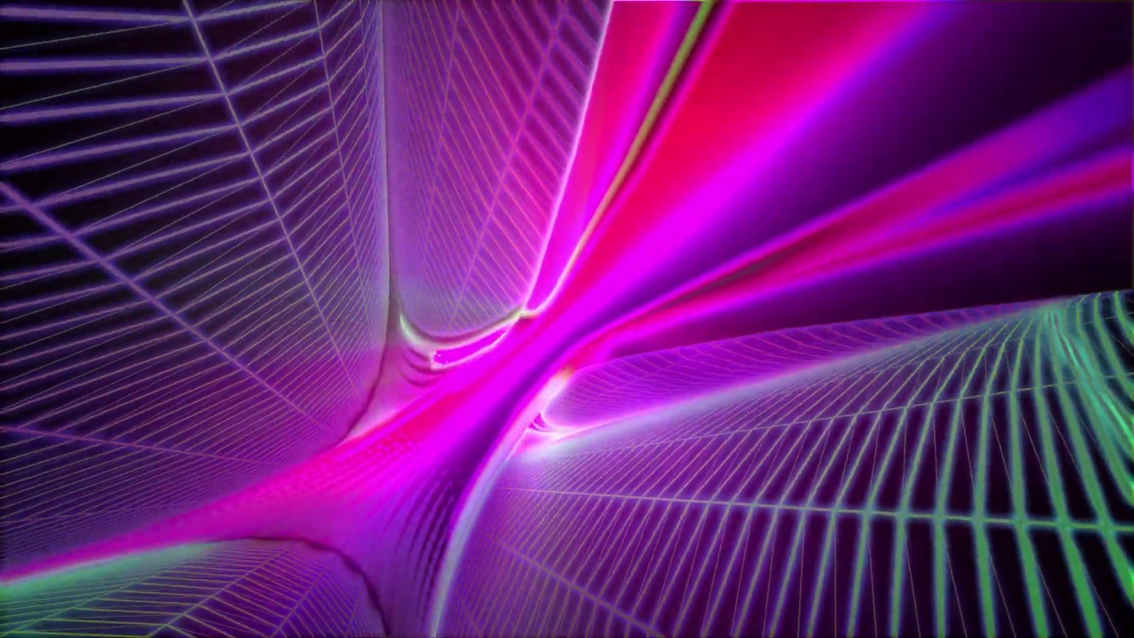 4K Relaxing Live Wallpaper - Colorful Glowing Neon Toroid #AAVFX - YouTube