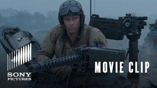 FURY Movie Clip: Sherman Tiger Fight