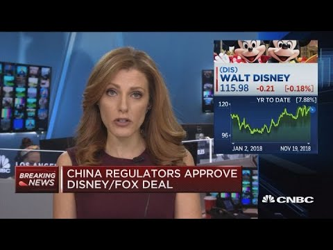 Disney receives regulatory approval in China for Fox deal