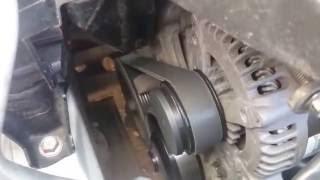 """Работа двигателя 2ZR-FE на """"коротком ремне"""" в обход кондиционера"""