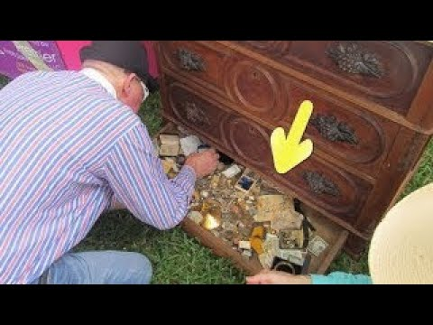This Man Bought An Old Dresser For $100 When He Opened It His Jaw Dropped!