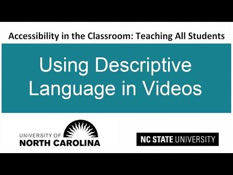 Using Descriptive Language in Videos