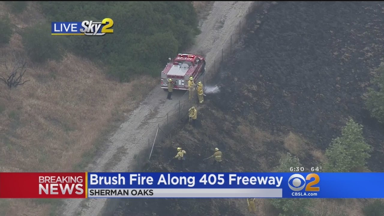tiny-brush-fire-along-405-freeway-in-sherman-oaks-causes-traffic-back-up