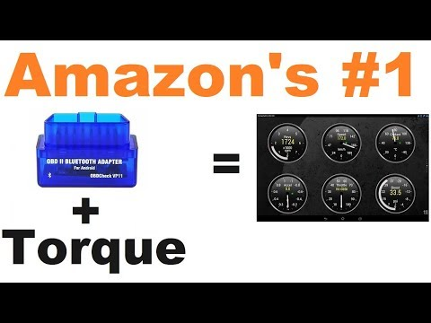 Bluetooth OBD2 Reader - Torque Compatible (Amazon #1 Choice)