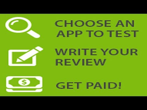 Make Money Online by Testing Apps and get paid
