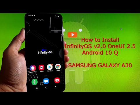 InfinityOS v2.0 OneUI 2.5 for Samsung Galaxy A30 Android 10 Q