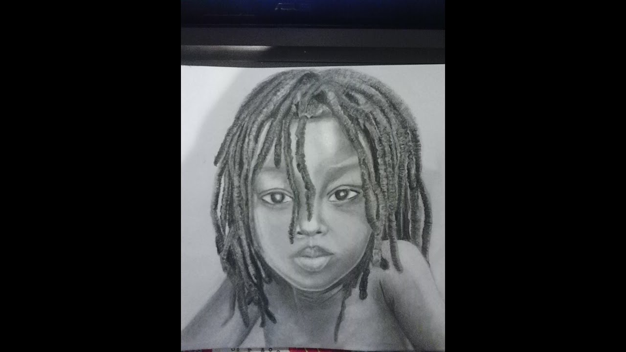 How To Draw A Child (black) With Dreadlocks By Manuella K