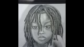 How to Draw A Child (Black) with Dreadlocks by Manuella K.