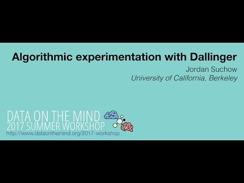 [Data on the Mind 2017] Algorithmic experimentation with Dallinger