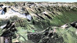 Glacier Peak Wilderness Trek - Google Fly Over