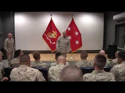 Assistant Commandant of the Marine Corps briefs ISAF Marines.