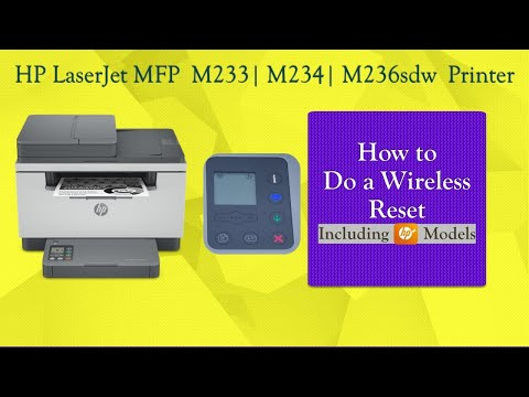HP LaserJet MFP M233 | M234sdw | M236sdw : How to reset wireless back to defaults from control panel