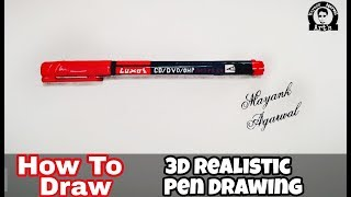 3D Realistic Pen Drawing | Learn How to Draw | Step by Step