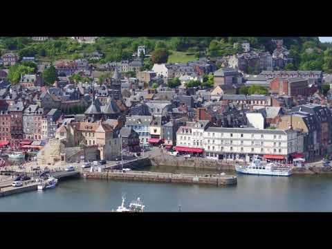 Vidéo aérienne de Honfleur filmé par un drone en Normandie