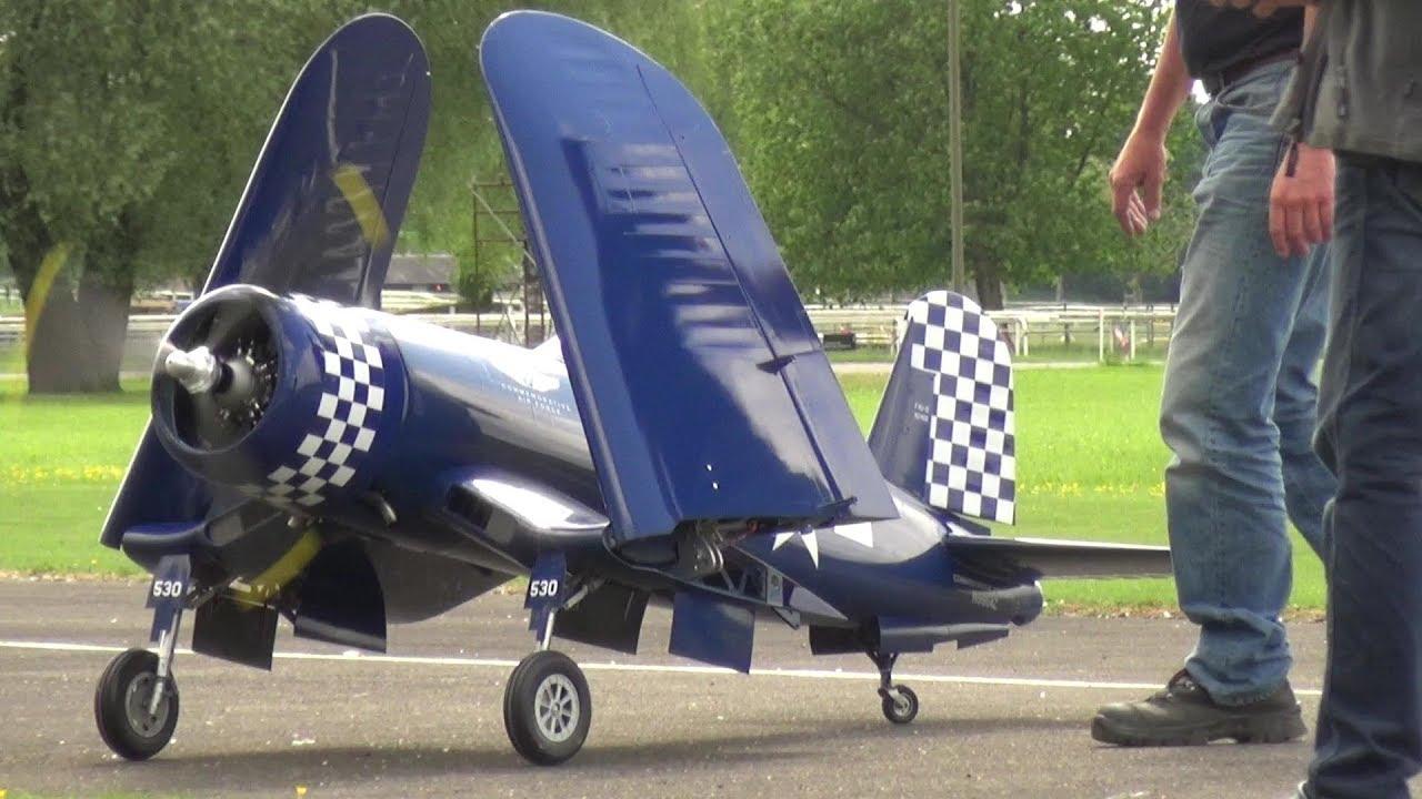 WARNING: STUNNING DETAILED CORSAIR F4U RC SCALE MODEL WARBIRD