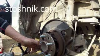 Toyota Венза регулировка ручного тормоза