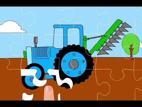 Cartoni animati - Il puzzle - La gru, la scavatrice, il trattore.