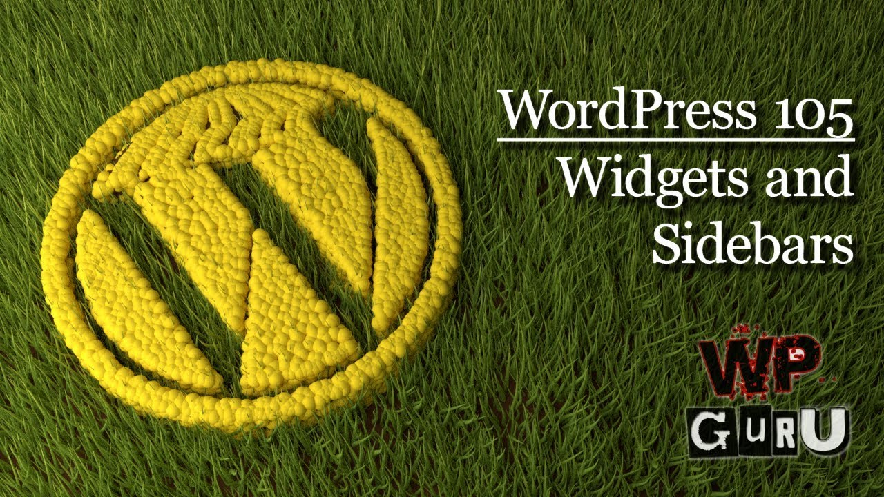 WordPress 105: Widgets and Sidebars | The WP Guru