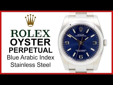 ▶ Rolex Oyster Perpetual 36mm, No Date, Blue Dial, Stainless Steel REVIEW  116000BLUADO