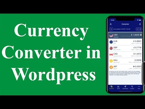 How To Add A Currency Converter In WordPress | Live Currency Exchange Rates