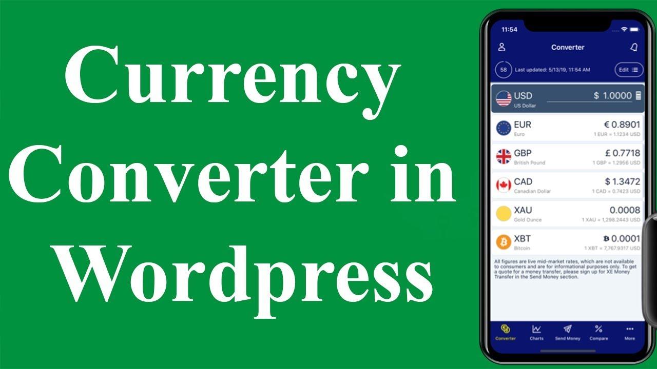 Currency Converter In WordPress