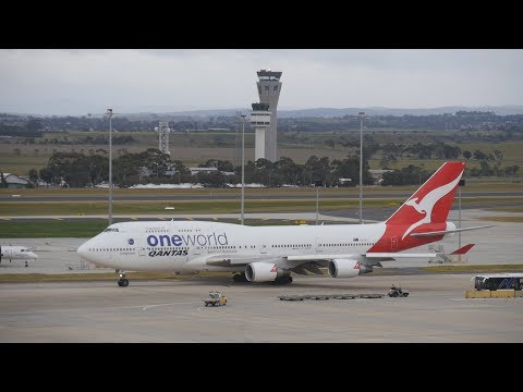 Late Morning Traffic at Melbourne Tullamarine August 6th 2017