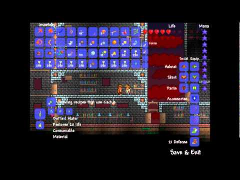 Terraria Update Jelly Fish Lava Bats And Potions Youtube