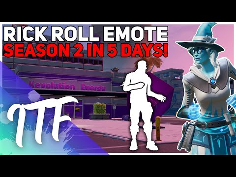 Rick Roll Emote In Fortnite! Season 2 NEEDS To Be Good (Fortnite Battle Royale)