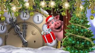 🐷 Поздравление с Новым 2019 годом свиньи! 🎄 Видео открытка