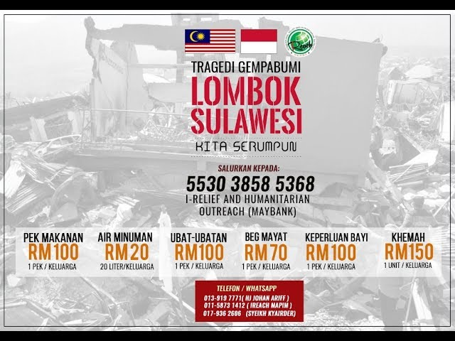 Laporan Ringkas misi gempa 7.7 Sulawesi