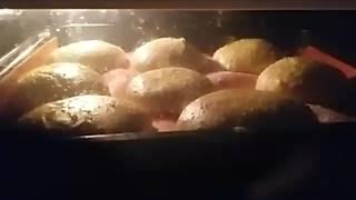 Рецепт для бургера под видео.На это можно смотреть вечно! Булочки для гамбургеров,бутербродов.